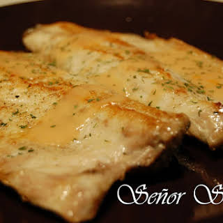 Sea Bass in Shrimp Sauce.