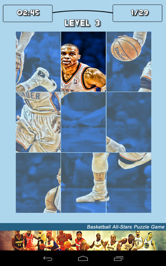 Basketball All-Stars Puzzle - screenshot