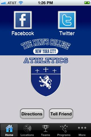 The King's College Athletics - screenshot