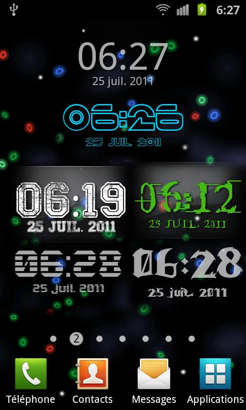 Digital Glass Clock - screenshot
