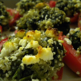 Tomatoes Stuffed with Quinoa, Spinach and Feta.