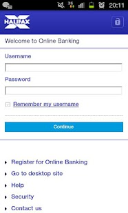 Halifax Mobile Banking app - screenshot thumbnail