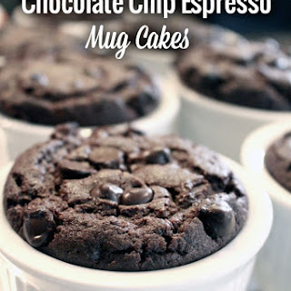 Decadent Chocolate Chip Espresso Mug Cakes (Gluten-Free, Dairy-Free)