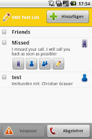 Screenshot of COL SMS Responder