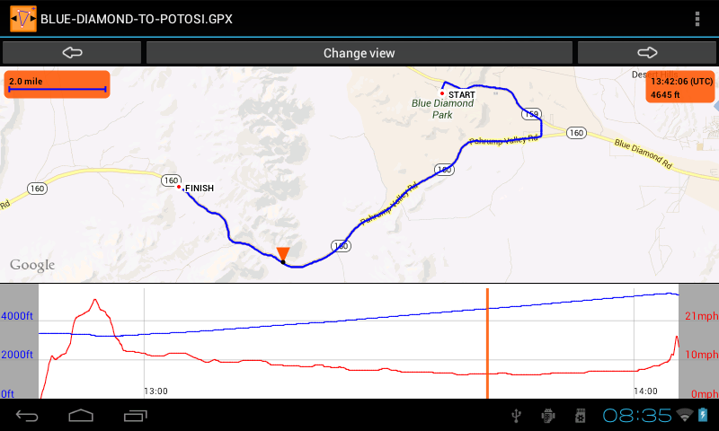 GPS Track Browser - Free - screenshot