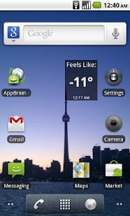Wind Chill Widget - screenshot thumbnail