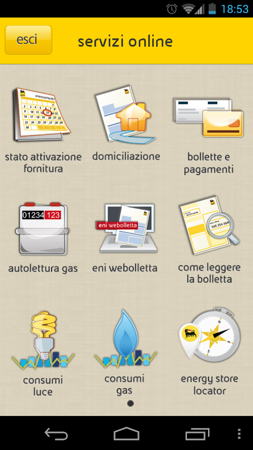 eni gas e luce - screenshot