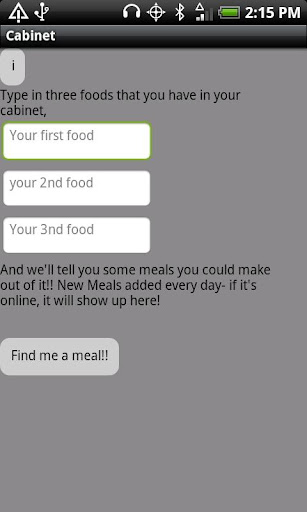 Cabinet - Find Dinner Ideas
