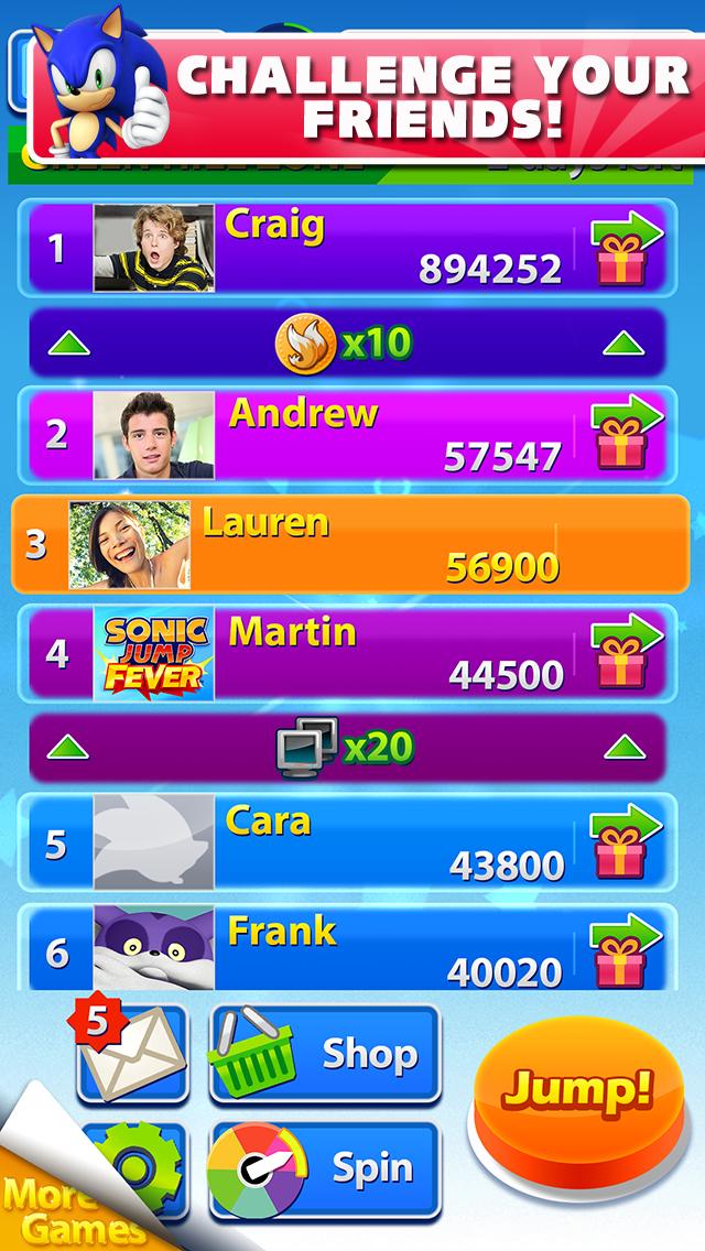 Sonic Jump Fever screenshot #4