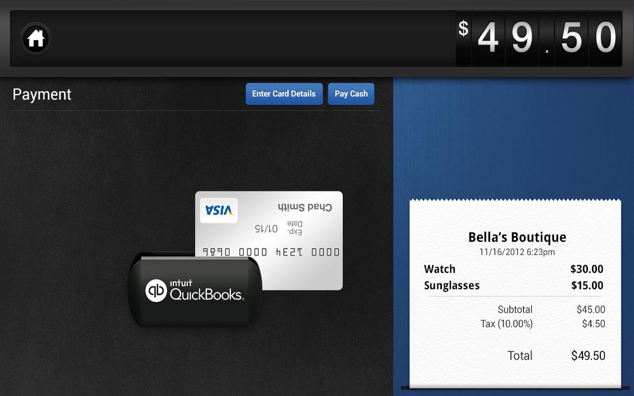 QuickBooks GoPayment - screenshot