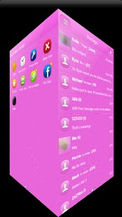 PINK POP GO SMS Theme - screenshot thumbnail