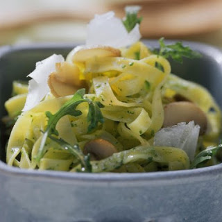 Tagliatelle with Arugula Pesto