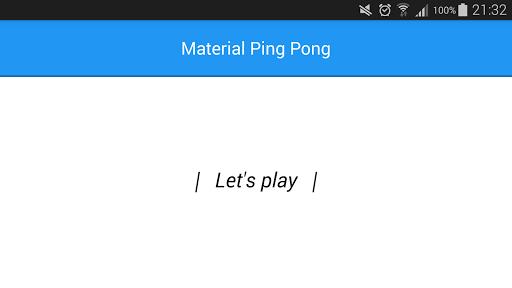 Material Ping Pong