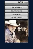 Screenshot of Jason Aldean Tickets