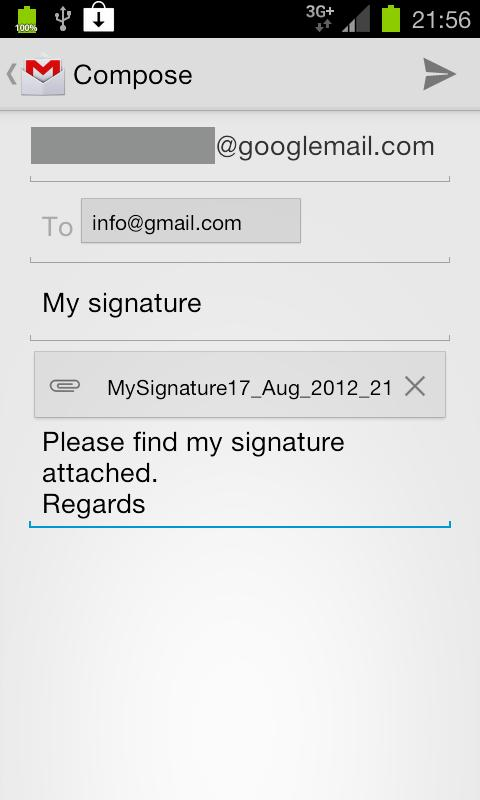 Digital Signature Creator– снимак екрана