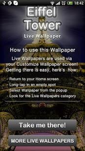Eiffel Tower Live Wallpaper - screenshot thumbnail