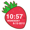 Strawberry Clock Widget icon