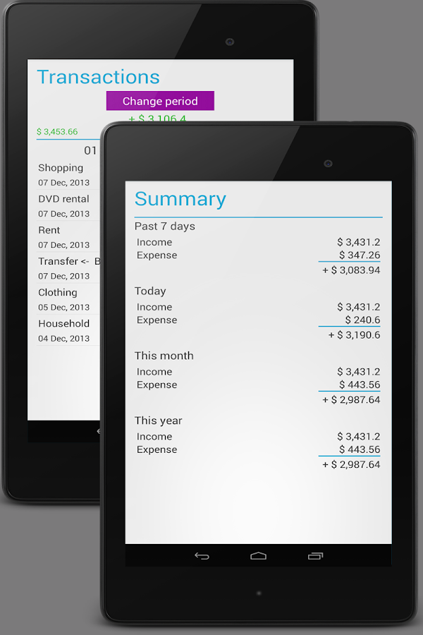 Home Budget Manager- screenshot