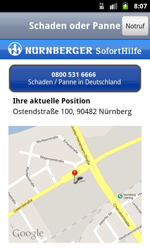 NÜRNBERGER SofortHilfe- screenshot