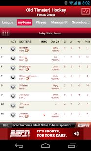 ESPN Fantasy Hockey Screenshot 2
