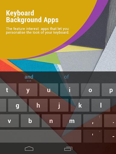 Keyboard Background Apps