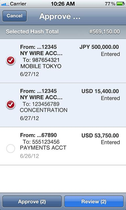 J.P. Morgan ACCESS Mobile - screenshot