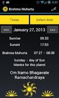 Screenshot of Brahma Muhurta