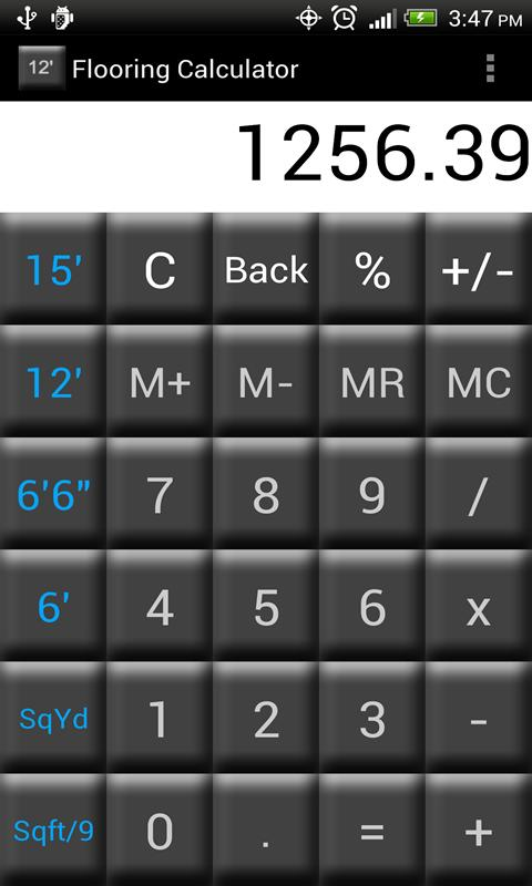 Flooring calculator free android apps on google play for Flooring calculator