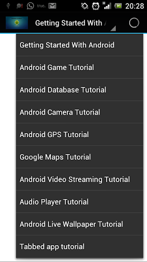 Tutorials for Android