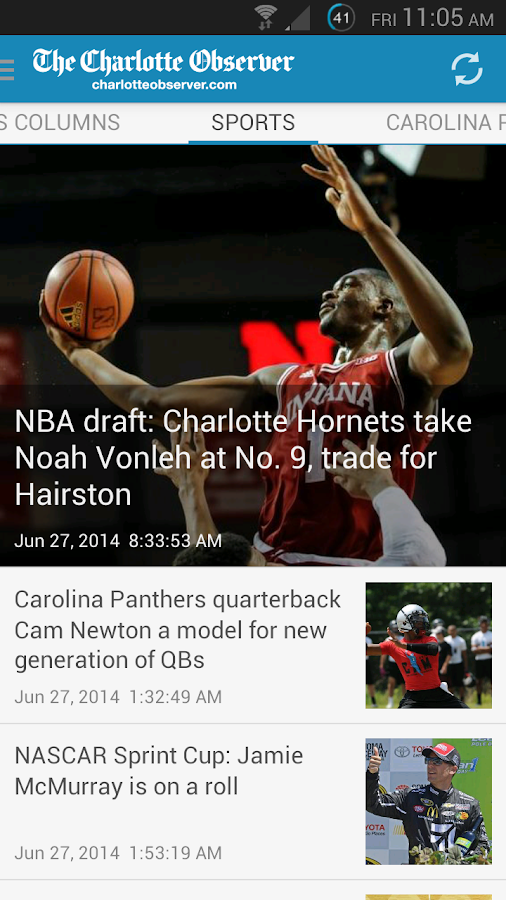 The Charlotte Observer- screenshot