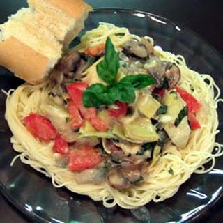 Tomato Alfredo Sauce with Artichokes