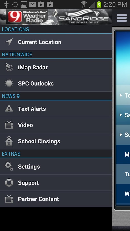 iMap Weather Radio- screenshot