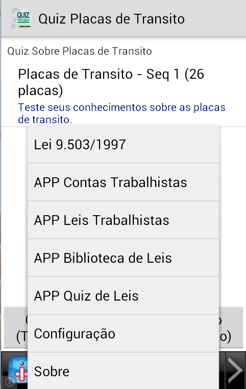 Quiz Placas de Transito- screenshot