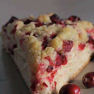 Yeasted Cranberry Tart with Crumble Topping.