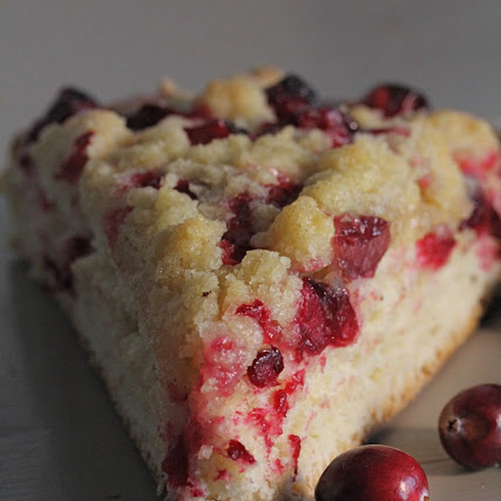 Yeasted Cranberry Tart with Crumble Topping
