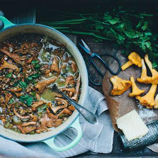 Chanterelle & Lentil Soup