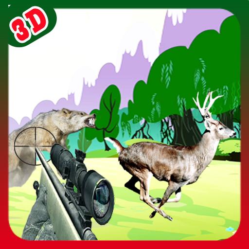 动作の鹿レスキュー3D LOGO-記事Game