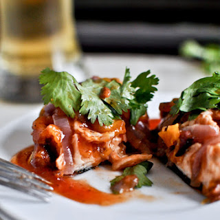 BBQ Chicken Stuffed Sweet Potato Skins.