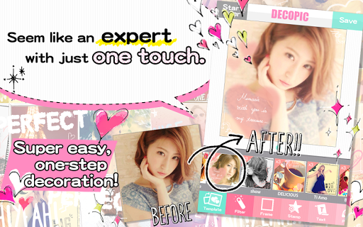 DECOPIC,Kawaii PhotoEditingApp app (apk) free download for Android/PC/Windows screenshot