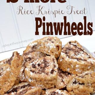 S'more Rice Krispie Treat Pinwheels