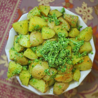 Roasted Potato Salad with Cilantro Pesto.