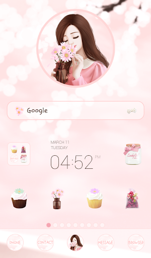 lovely pink daisy dodol theme