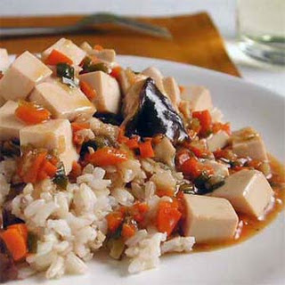 Tofu and Mushrooms.