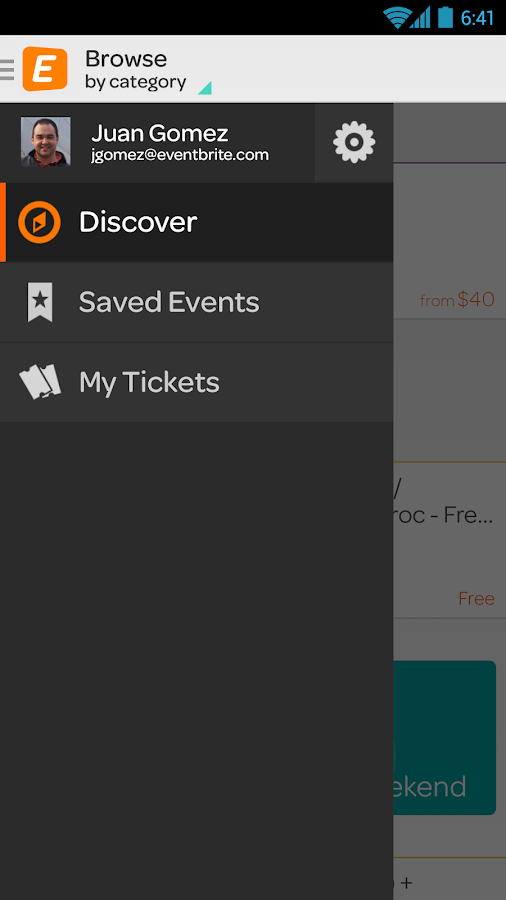 Eventbrite - screenshot
