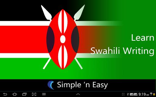 Learn Swahili Writing