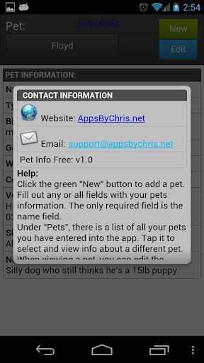 【免費工具App】Pet Info Free-APP點子
