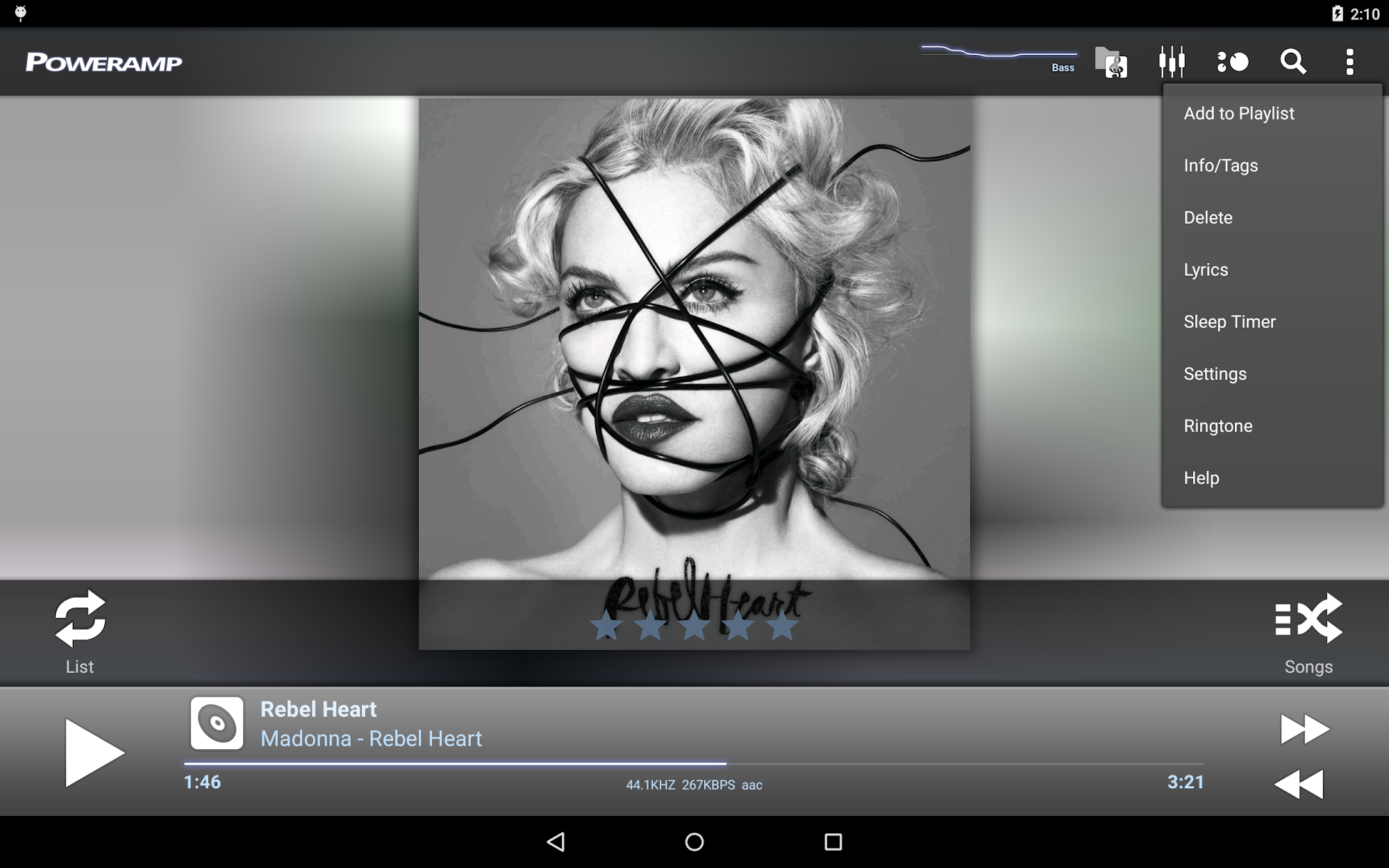 Poweramp Music Player (Trial) screenshot #10