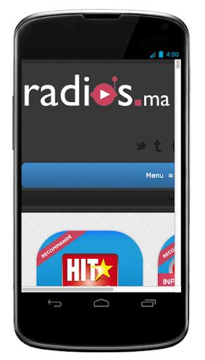 Radios marocaines website