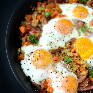 Ham n' Quinoa Hash with Baked Eggs.