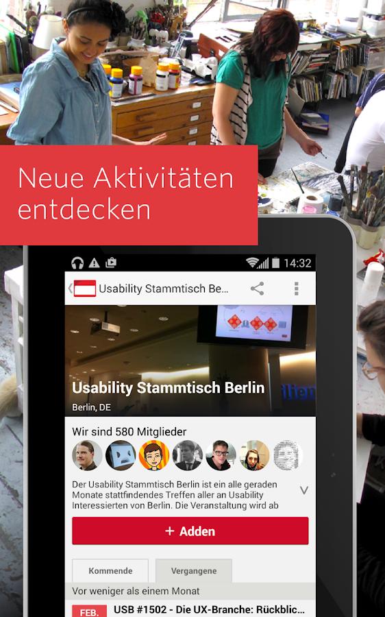 Meetup – Lokale Gruppen - screenshot